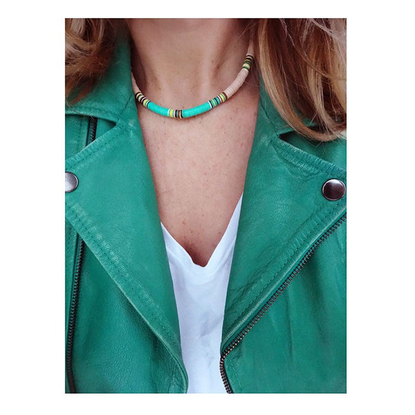 Maison Marcel All The Must Pink & Turquoise Medium Necklace