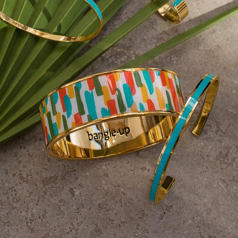 Maison Marcel Turquoise Fin Cuff Bangle Up
