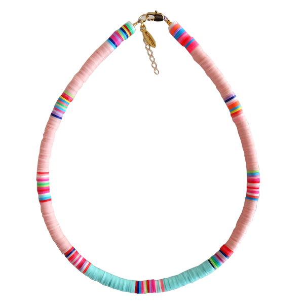 Maison Marcel All The Must Medium Necklace Pink & Turquoise