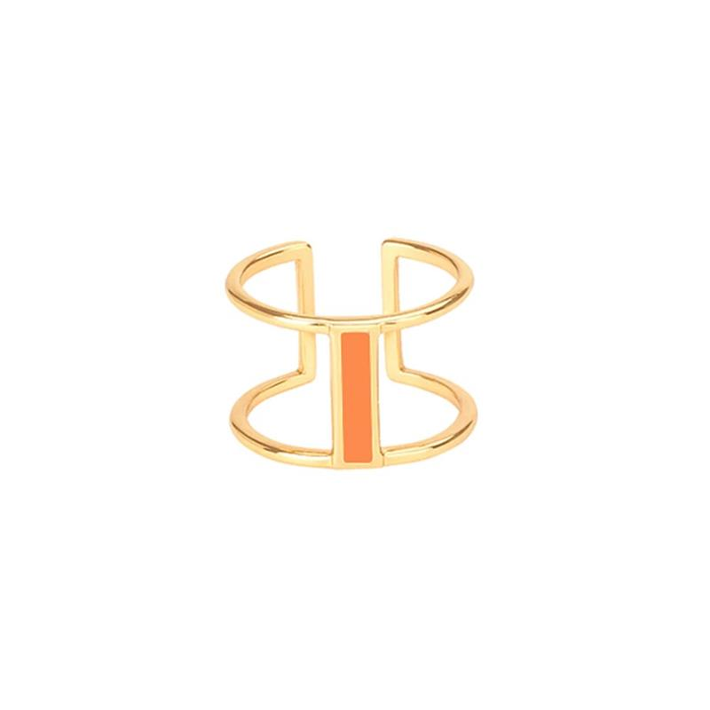 Maison Marcel Bangle Up Double Ring Tangerine