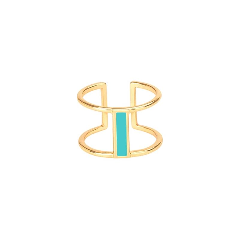 Maison Marcel Bangle Up Double Ring Turquoise