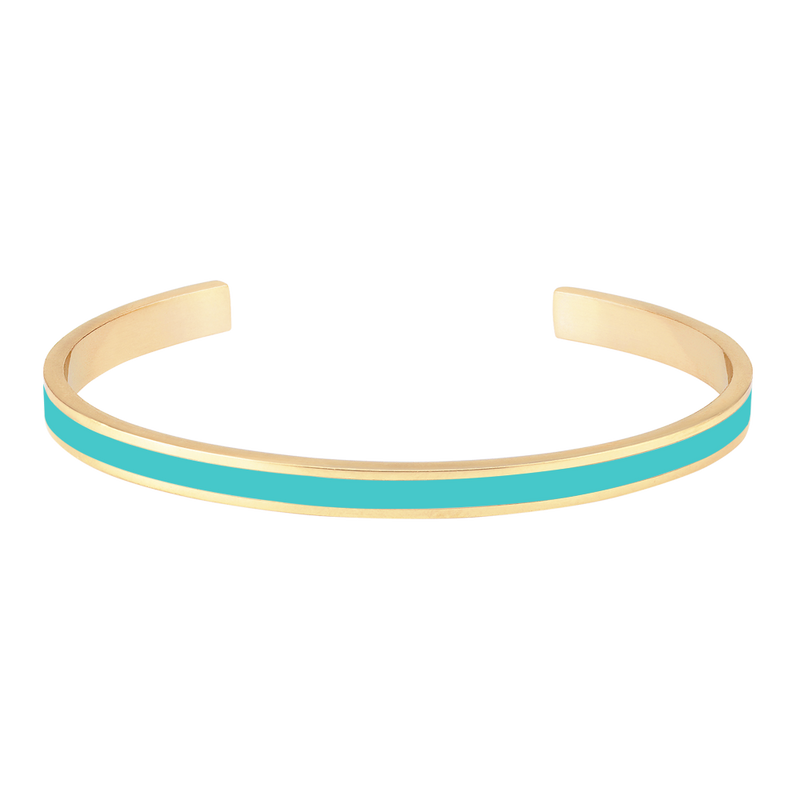 Maison Marcel Bangle Up Fin Cuff Turquoise