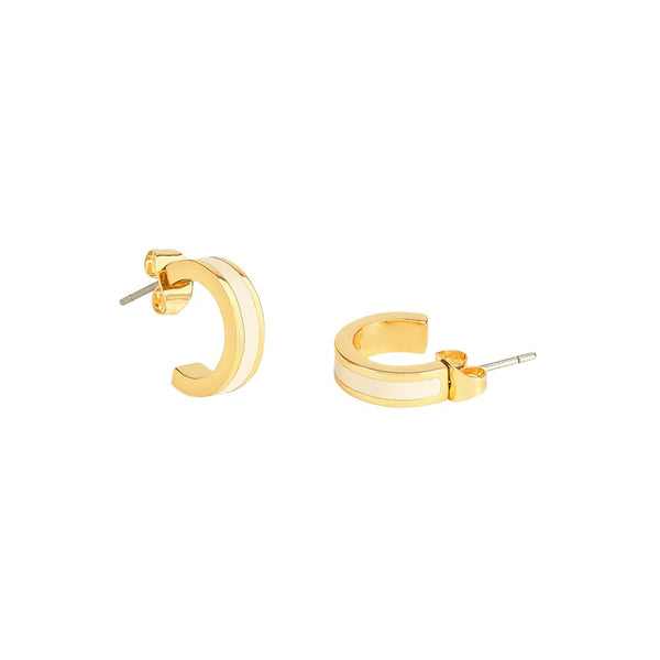 Maison Marcel Bangle Up Hoop Earrings White
