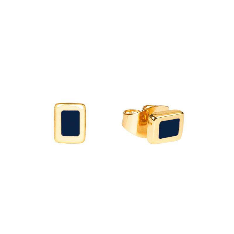 Maison Marcel Bangle Up Studs Earrings Night Blue