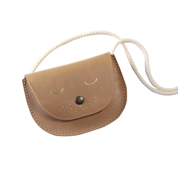 Maison Marcel Barnabe Aime Le Café Small Leather Bag Brown