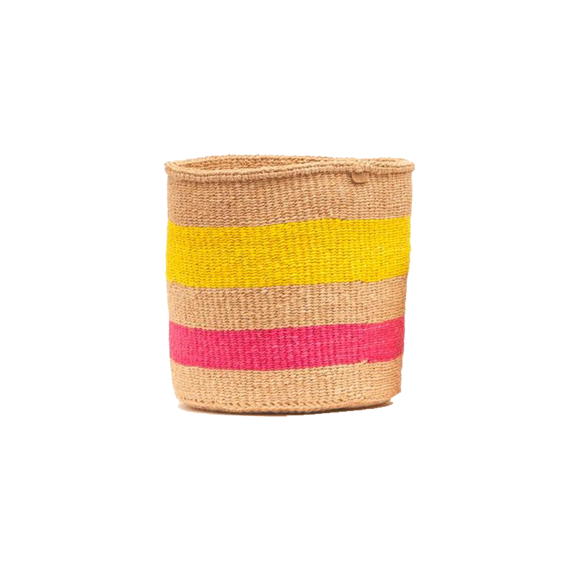 Maison Marcel Basket Pink & Yellow - XS to L The Basket Room