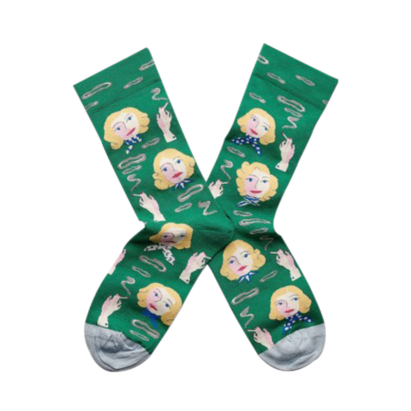 Maison Marcel Bonne Maison Smoking Lady Green Socks