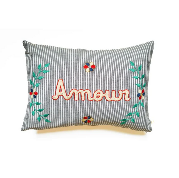 Maison Marcel CSAO Cushion Amour Blue Stripes