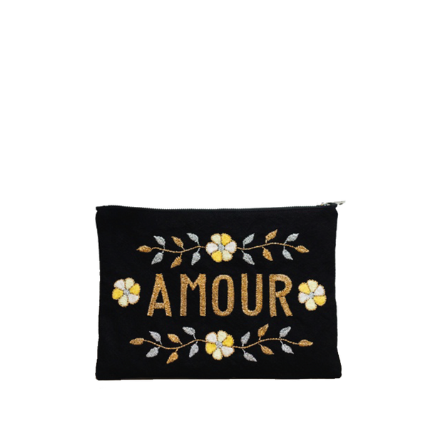 Maison Marcel CSAO Embroided Amour Clutch