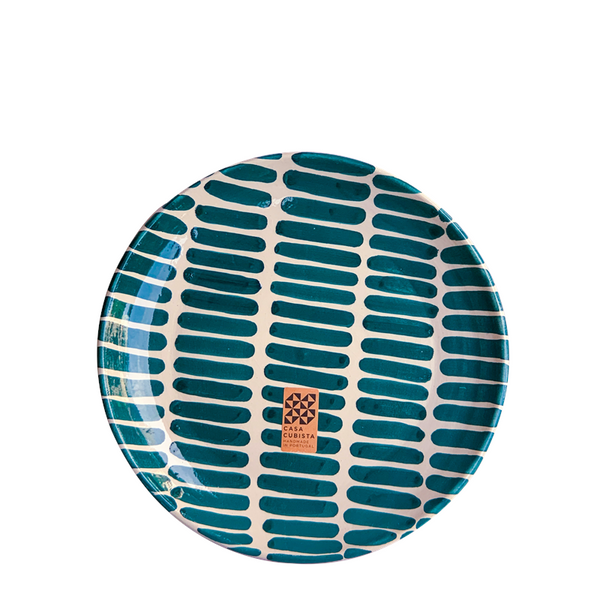 Maison Marcel Case Cubista Small Plate Teal Dash