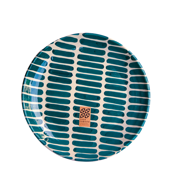 Maison Marcel Case Cubista Teal Dash Small Plate