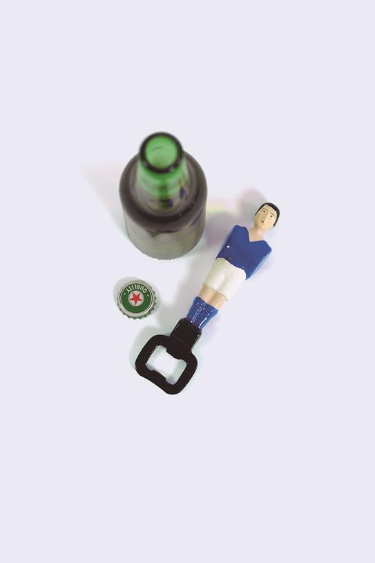 Maison Marcel Football Player Blue Bottle Opener DOIY