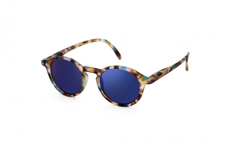 Maison Marcel IZIPIZI Blue Tortoise Soft Blue Mirror Lenses Curved (#D) Junior Sunglasses