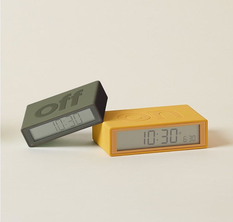 Maison Marcel Lexon Clock Yellow