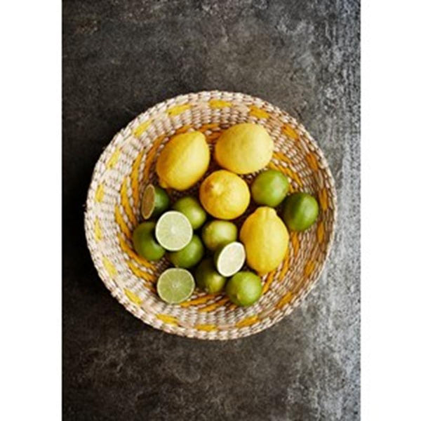 Maison Marcel Madam Stoltz Wicker Tray Yellow