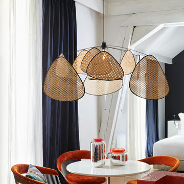 Maison Marcel Market Set Cannage Screen Hanging Lamp
