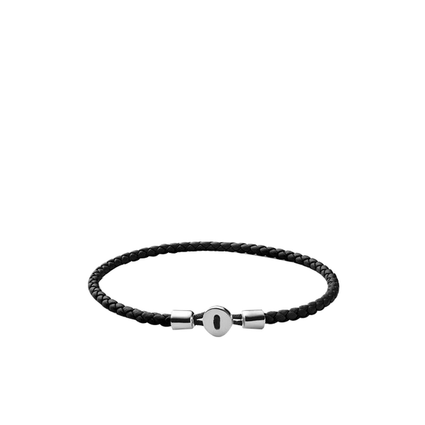 Maison Marcel Miansai Silver & Black Leather Bracelet