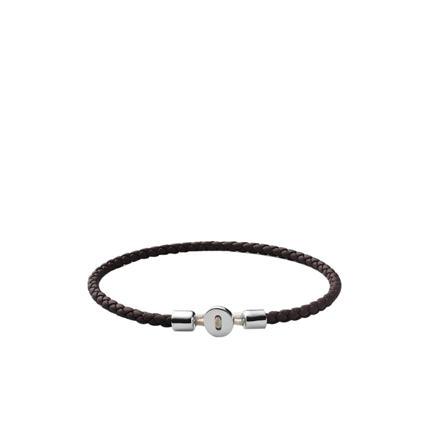 Maison Marcel Miansai Silver & Brown Leather Bracelet