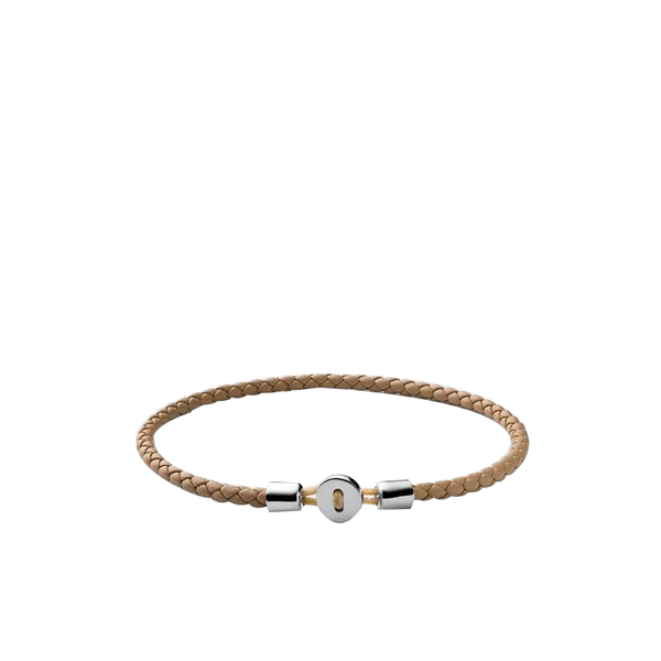Maison Marcel Miansai Silver & Natural Leather Bracelet