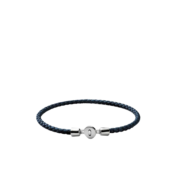 Maison Marcel Miansai Silver & Navy Leather Bracelet