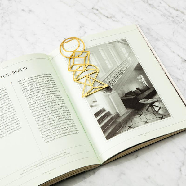 Maison Marcel Octaevo Brass Bookmark Graphic