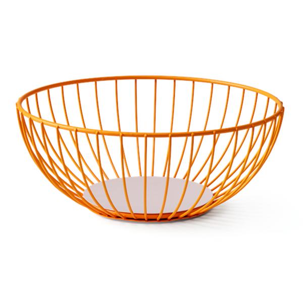 Maison Marcel Octaevo Large Wire Basket Orange