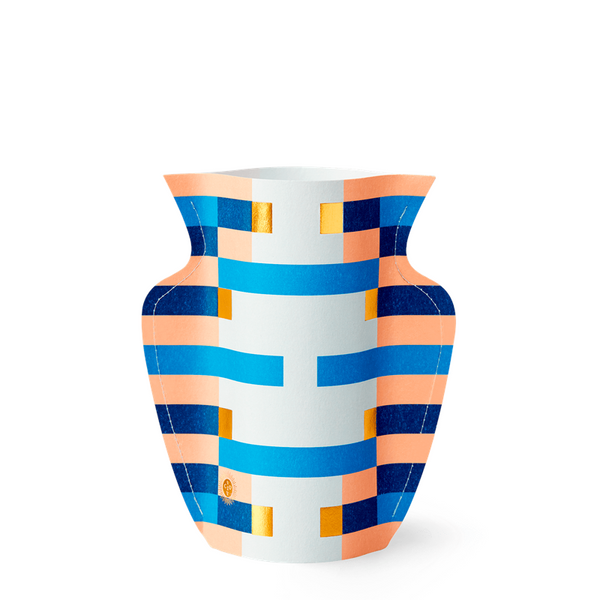 Maison Marcel Octaevo Small Vase Stripes Blue