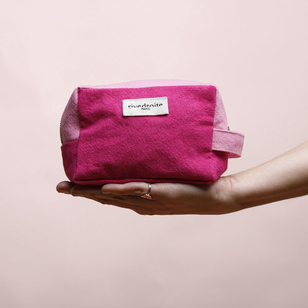Maison Marcel Rive Droite Cherry & Pink Make Up Pouch