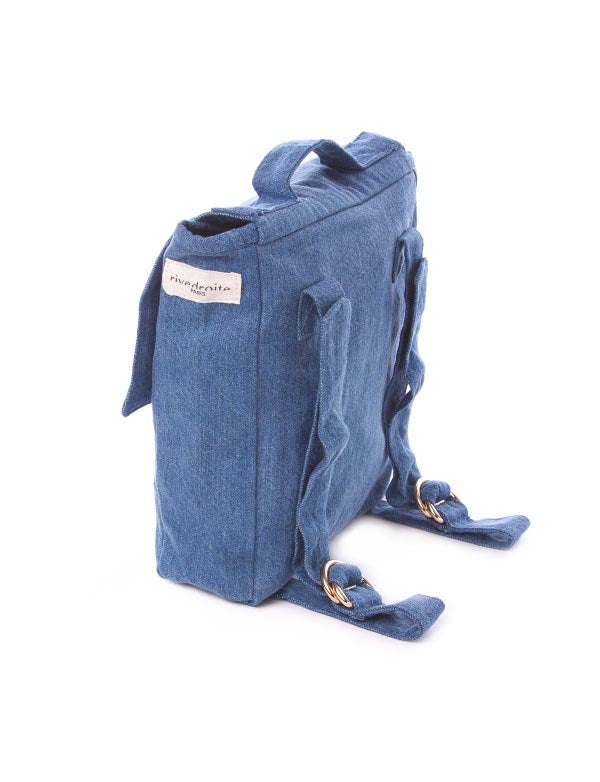 Maison Marcel Rive Droite Stone Washed Denim Backpack