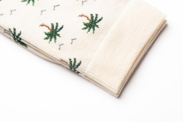 Maison Marcel Royalties Palm Trees Ivory Socks