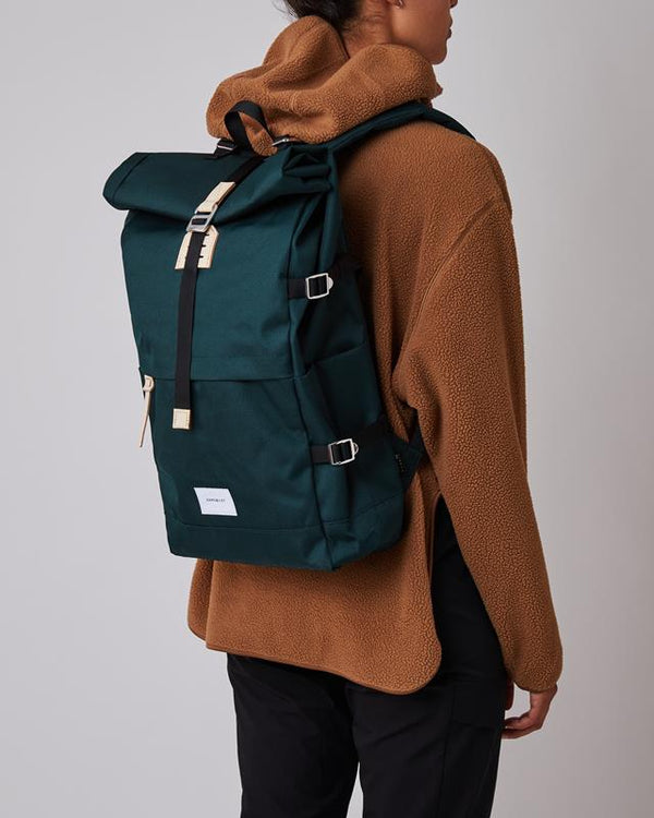 Maison Marcel Sandqvist Dark Green Bernt Backpack