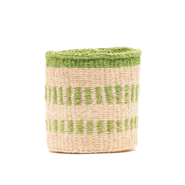 Maison Marcel The Basket Room Basket Green & Natural - Size XS