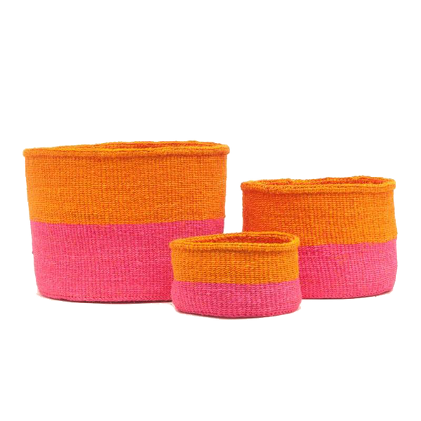 Maison Marcel The Basket Room Basket Orange & Pink - XS to M