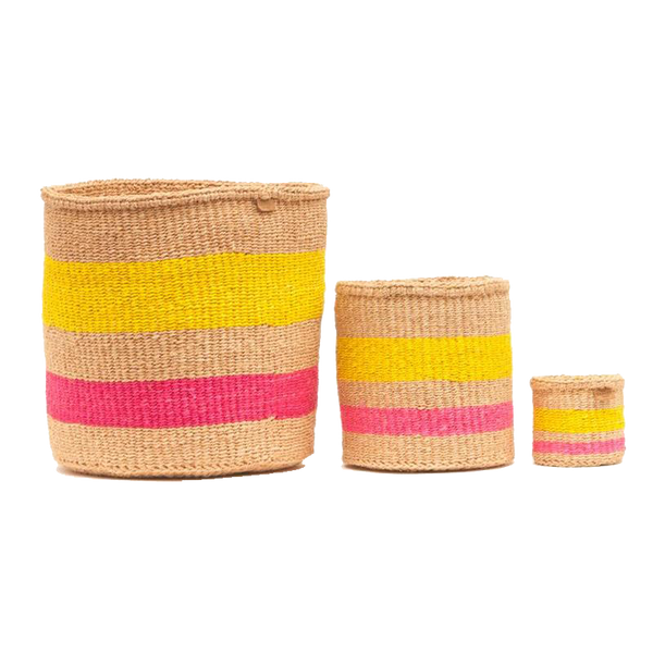 Maison Marcel The Basket Room Basket Pink & Yellow - XS to L