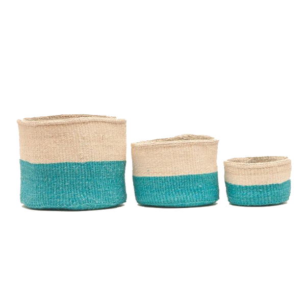 Maison Marcel The Basket Room Basket Turquoise & Natural - XS to M