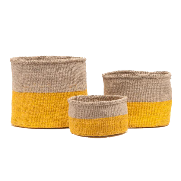 Maison Marcel The Basket Room Basket Yellow & Natural - XS to M