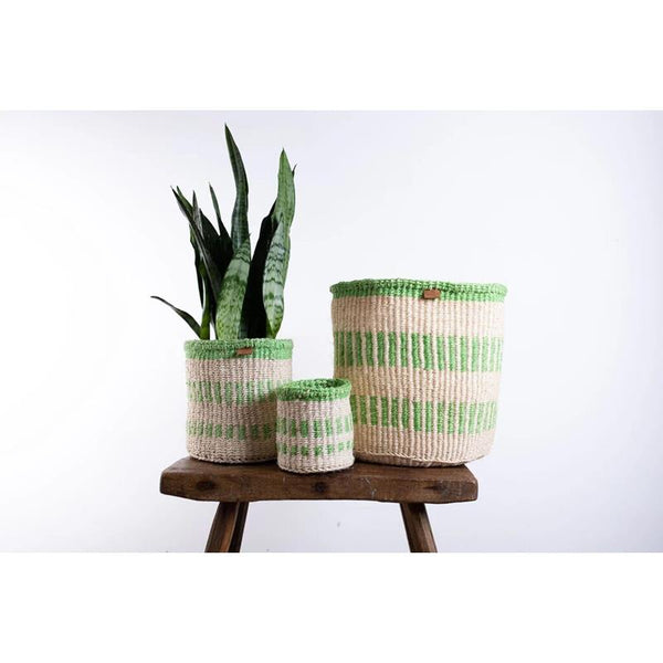 Maison Marcel The Basket Room Size XS Green & Natural Basket