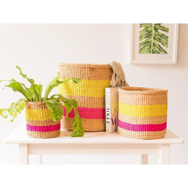 Maison Marcel The Basket Room XS to L Basket Pink & Yellow