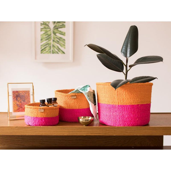 Maison Marcel The Basket Room XS to M Basket Orange & Pink