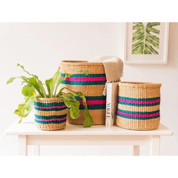 Maison Marcel The Basket Room  XS to M Basket Turquoise & Natural