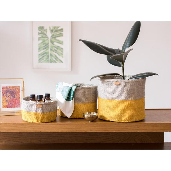 Maison Marcel The Basket Room XS to M Basket Yellow & Natural