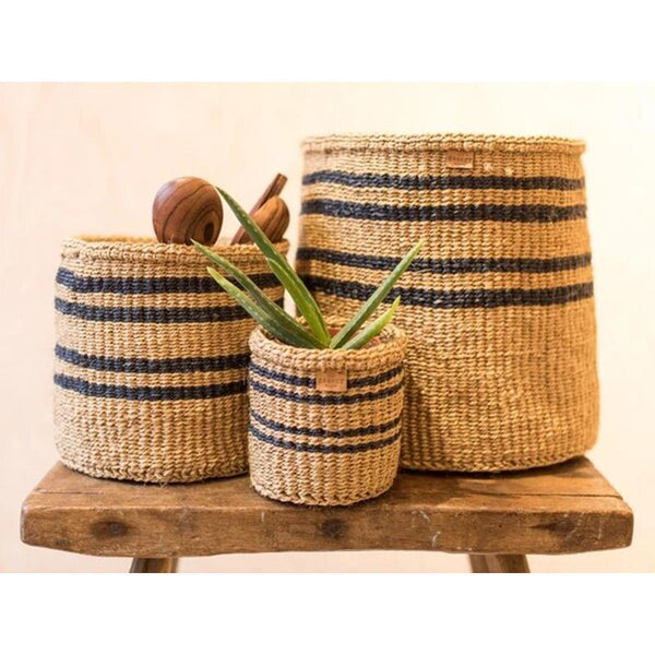 Maison Marcel The Basket Room XS to XL Basket Black & Natural