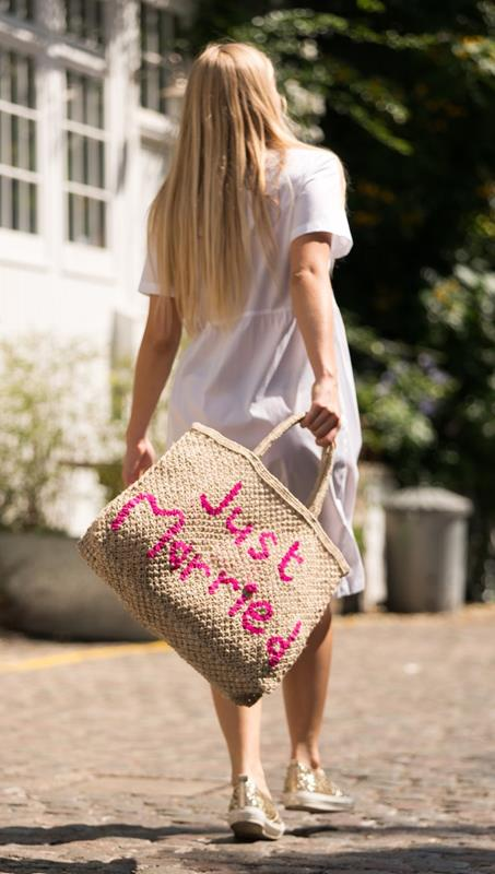 Maison Marcel The Jackson Fluo Pink Just Married Bag