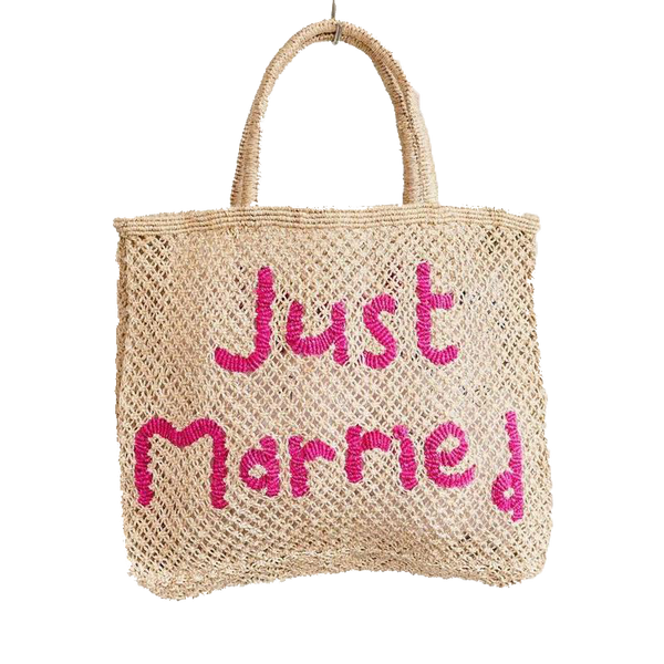Maison Marcel The Jackson Just Married Fluo Pink Bag