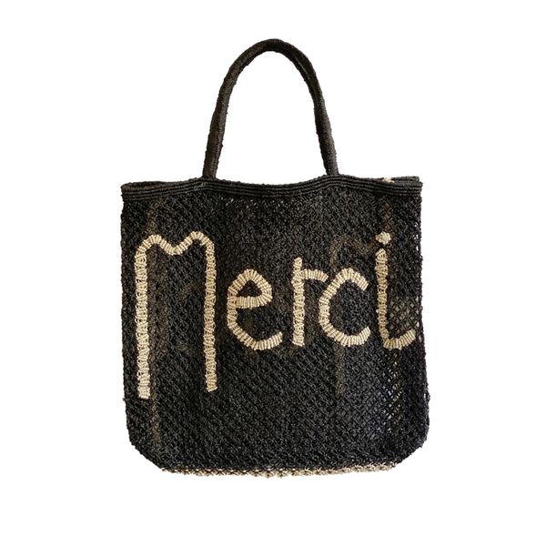 Maison Marcel The Jackson Merci Natural Black Bag