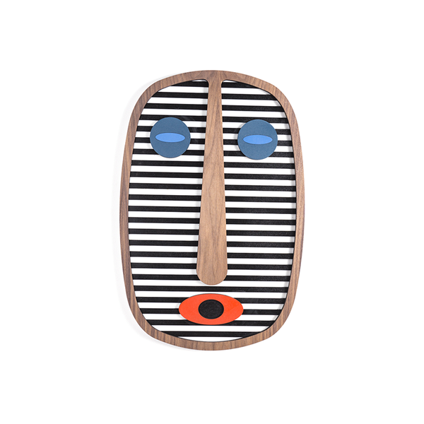 Maison Marcel Umasqu Mask Black & White Stripes