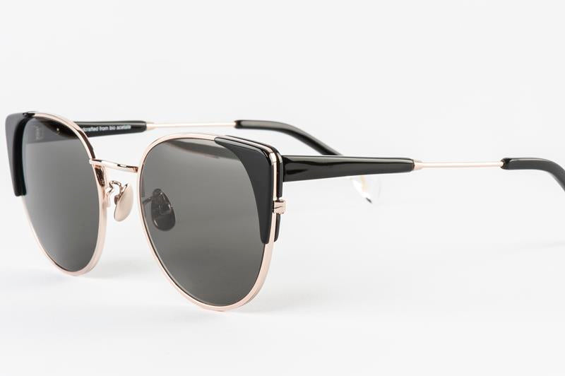 Maison Marcel Waiting For The Sun Black Claudia Sunglasses