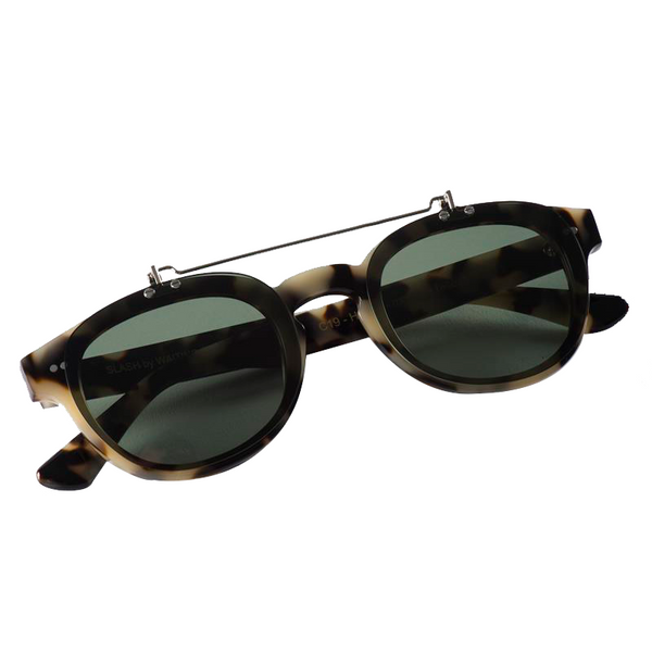 Maison Marcel Waiting For The Sun New-York Flap Sunglasses Tortoise