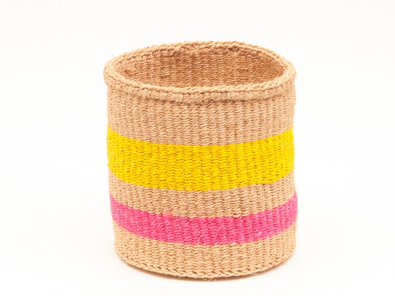 Maison Marcel XS to L Basket Pink & Yellow The Basket Room