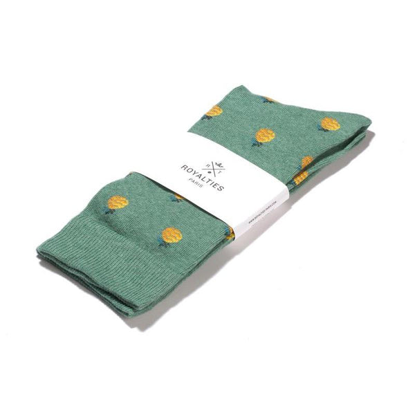 Socks Pineapples Green